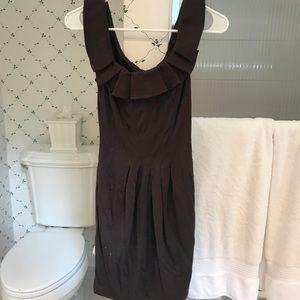 BCBG Brown Sleeveless Structured Knit Dress